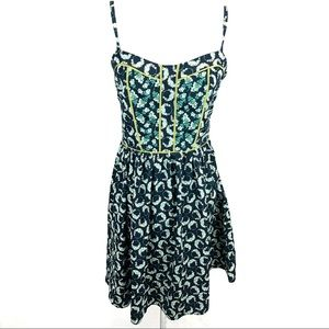 LC Lauren Conrad green sun dress
